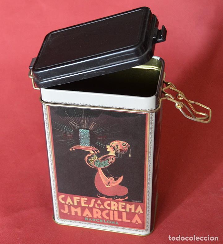 MARCILLLA - CAFES A LA CREMA - CAJA DE CHAPA - REPRODUCCION (Coleccionismo - Cajas y Cajitas Metálicas)