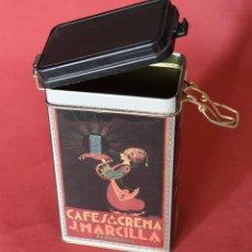 Cajas y cajitas metálicas: MARCILLLA - CAFES A LA CREMA - CAJA DE CHAPA - REPRODUCCION . Lote 80357093