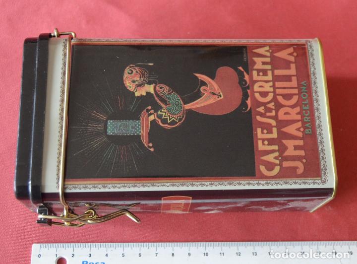 Cajas y cajitas metálicas: MARCILLLA - CAFES A LA CREMA - CAJA DE CHAPA - REPRODUCCION - Foto 3 - 80357093