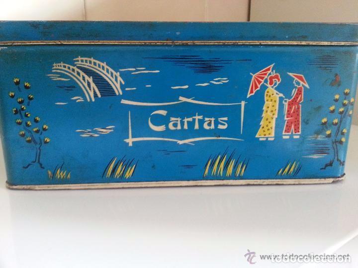 LATA DE COLA-CAO PARA GUARDAR CARTAS (Coleccionismo - Cajas y Cajitas Metálicas)