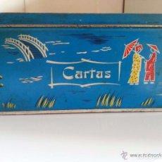Cajas y cajitas metálicas: LATA DE COLA-CAO PARA GUARDAR CARTAS. Lote 80649070