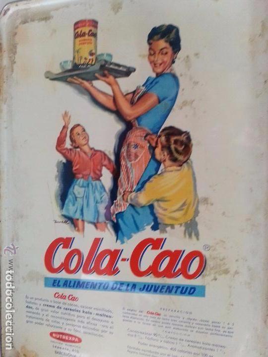 Cajas y cajitas metálicas: Lata de cola-cao para guardar cartas - Foto 2 - 80649070
