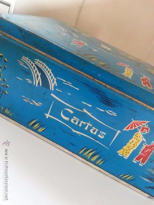 Cajas y cajitas metálicas: Lata de cola-cao para guardar cartas - Foto 3 - 80649070
