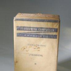 Cajas y cajitas metálicas: CAJA DE FARMACIA TEOBROMINA TEIODON LABORATORIOS ZAMBELETTI MILANO // SIN DESPRECINTAR. Lote 81109188