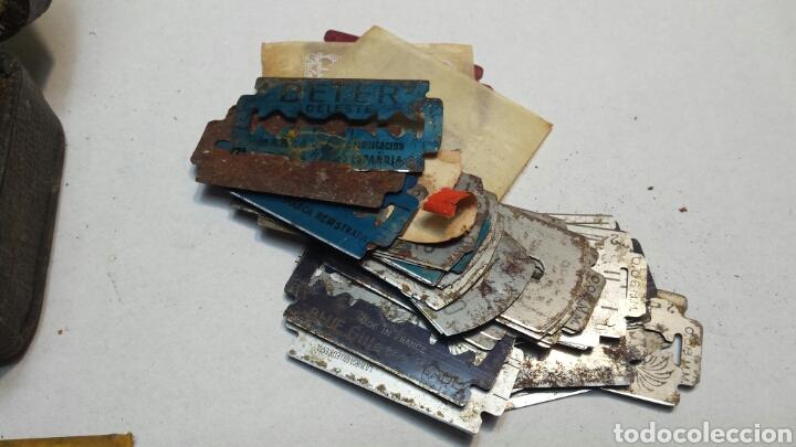 Cajas y cajitas metálicas: Cajita antigua y rara de Guillette con cuchillas - Foto 3 - 82044184