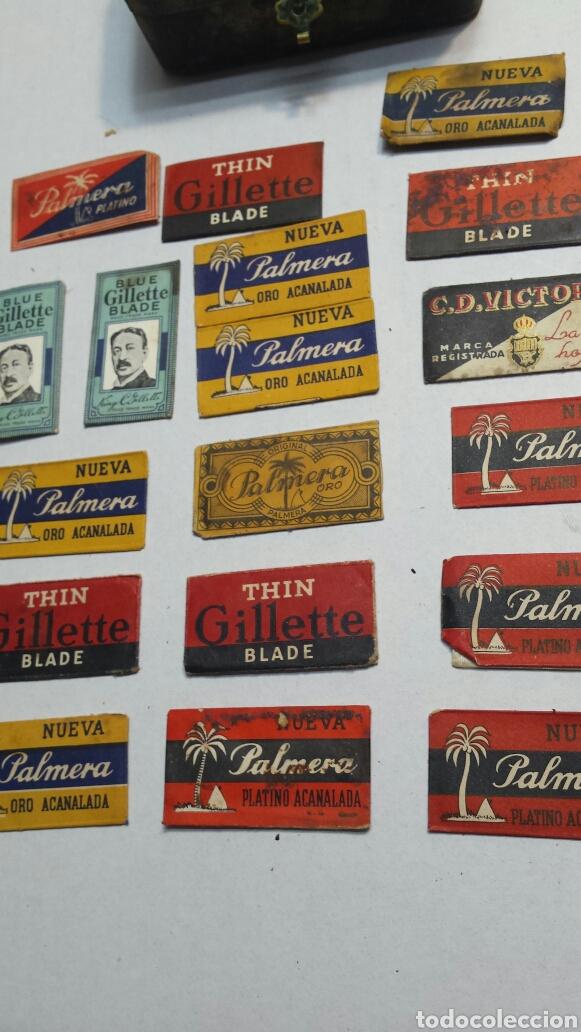 Cajas y cajitas metálicas: Cajita antigua y rara de Guillette con cuchillas - Foto 5 - 82044184
