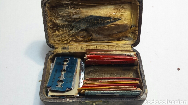 Cajas y cajitas metálicas: Cajita antigua y rara de Guillette con cuchillas - Foto 7 - 82044184