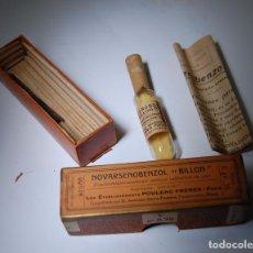 Boîtes et petites boîtes métalliques: CAJA DE FARMACIA NOVARSENOBENZOL BILLON LAB. POULENC FRÈRES // LLENA SIN DESPRECINTAR AÑOS 20. Lote 82198912