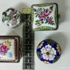 Cajas y cajitas metálicas: 4 CAJITAS DE CERÁMICA ANTIGUAS . Lote 83331744