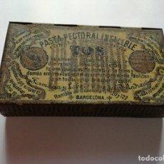 Cajas y cajitas metálicas: ANTIGUA CAJA DE METAL LITOGRAFIADA PASTILLAS DE LA TOS DEL DOCTOR ANDREU - PASTA PECTORAL INFALIBLE. Lote 83355436