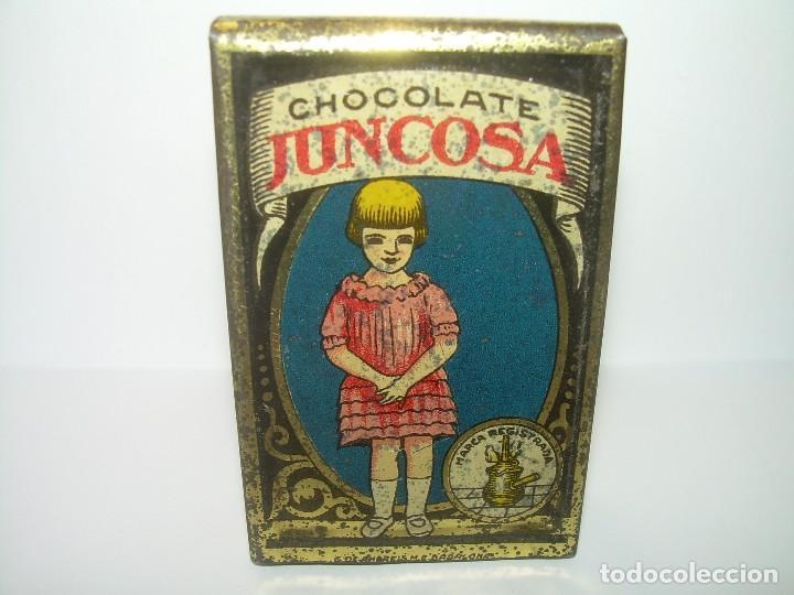 ANTIGUA CAJITA CHOCOLATE JUNCOSA. (Coleccionismo - Cajas y Cajitas Metálicas)