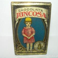 Cajas y cajitas metálicas: ANTIGUA CAJITA CHOCOLATE JUNCOSA.. Lote 83661460