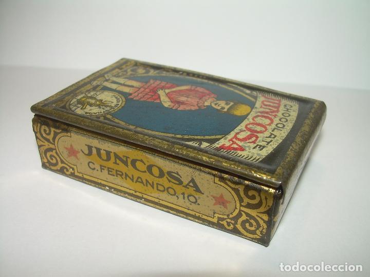 Cajas y cajitas metálicas: ANTIGUA CAJITA CHOCOLATE JUNCOSA. - Foto 3 - 83661460