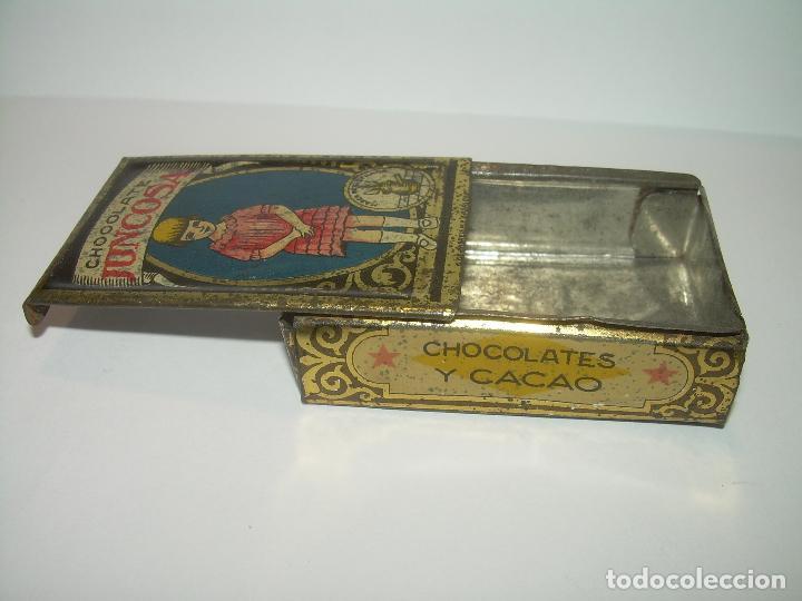 Cajas y cajitas metálicas: ANTIGUA CAJITA CHOCOLATE JUNCOSA. - Foto 5 - 83661460