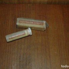 Cajas y cajitas metálicas: CAJA BOTE LLENO BOTE DE MEDICAMENTO SULFATHALIDIN - ESTREPTO . Lote 84791216