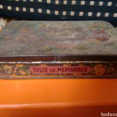 Cajas y cajitas metálicas: CAJA METALICA DULCE DE MENBRILLO ANTIGUA. Lote 85227059