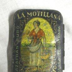 Cajas y cajitas metálicas: AZAFRÁN PURO LA MOTILLANA MED. 4 X 6 X 1 CM. Lote 103178548