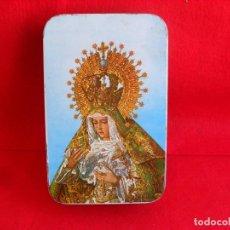 Cajas y cajitas metálicas: CAJA METAL DULCE MENBRILLO,PUENTE GENIL,IMAGEN RELIGIOSA. Lote 85840916