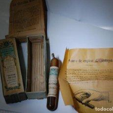 Cajas y cajitas metálicas: CAJA DE FARMACIA GOTAS DE OCREINE GREMY MUY CURIOSO // PROSPECTO ORIGINAL UNA PIEZA DE MUSEO. Lote 85908148