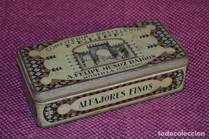 VINTAGE - CONFITERIA Y PASTELERIA FELIPE - ANTIGUA Y RARÍSIMA CAJITA / CAJA HOJALATA - HAZME OFERTA (Coleccionismo - Cajas y Cajitas Metálicas)