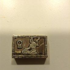 Cajas y cajitas metálicas: CAJITA PASTILLERO DE PLATA DE LEY DE 925 MILÉSIMAS. Lote 86482932