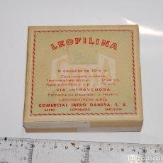 Cajas y cajitas metálicas: CAJA DE FARMACIA LEOFILINA LAB LEO // SINCINTAR DESPRE. Lote 87037584