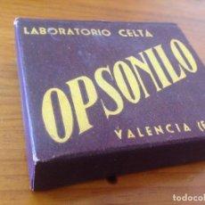 Cajas y cajitas metálicas: ANTIGUA CAJA MEDICAMENTO FARMACEUTICO LABORATORIO CELTA VALENCIA. Lote 87041280