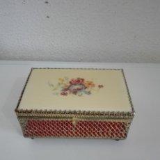 Cajas y cajitas metálicas: PRECIOSA CAJITA CAJA JOYERO Y ESPEJO. Lote 88211168
