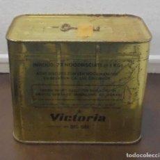 Cajas y cajitas metálicas: ANTIGUA CAJA. 72 GALLETAS. VICTORIA. 1964. LLENA. SIN ABRIR. VER FOTOS . Lote 88388516