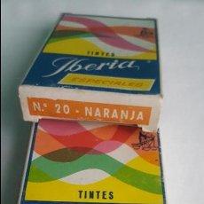 Cajas y cajitas metálicas: CAJA DE TINTE IBERIA VACIAS. Lote 88881584