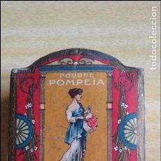 Cajas y cajitas metálicas: CAJA DE POLVOS POMPEIA LT PIVER PARIS. ROSEE MIDE 9 X 8 X 4 CM. Lote 88924772