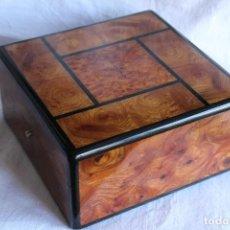 Cajas y cajitas metálicas: MAGNÍFICA CAJA DE MADERA DE RELOJ SUIZO BLANCPAIN. Lote 88998172