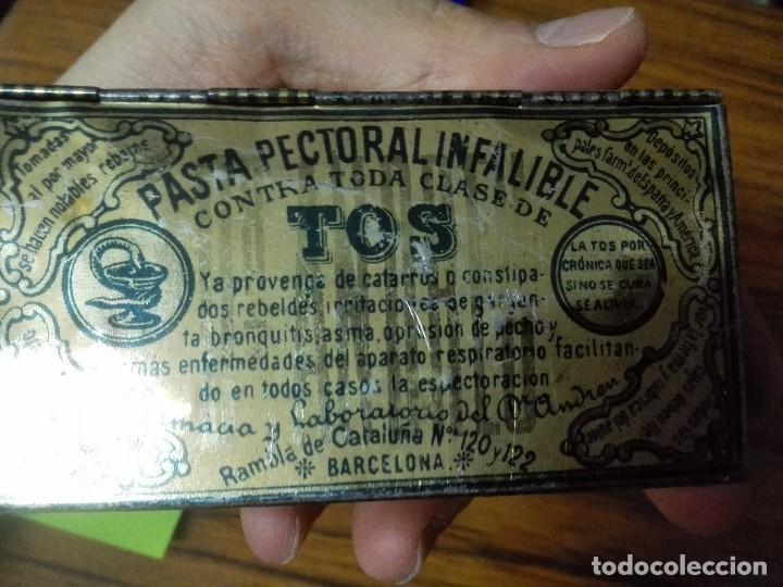 Cajas y cajitas metálicas: Caja de chapa Pasta Pectoral Infalible para la TOS. - Foto 2 - 90797480