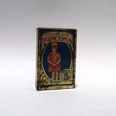 Cajas y cajitas metálicas: ANTIGUA CAJITA CAJA METAL LITOGRAFIADO CHOCOLATE JUNCOSA. Lote 90818575