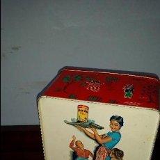 Cajas y cajitas metálicas: CAJA COLA CAO. COLOR ROJO.. Lote 91429910