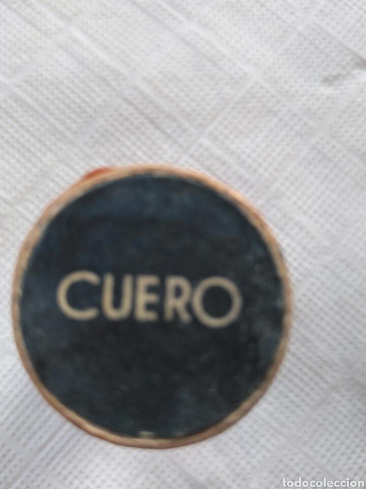 Cajas y cajitas metálicas: ANTIGUO BOTE TINTE IBERIA, CUERO. LLENO - Foto 3 - 91564029