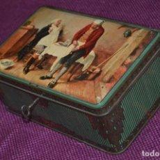 Cajas y cajitas metálicas: PRECIOSA Y ANTIGUA - VINTAGE - CAJA METÁLICA CON LLAVE - FUNCIONANDO - MIRA LAS FOTOS - HAZME OFERTA. Lote 91575545