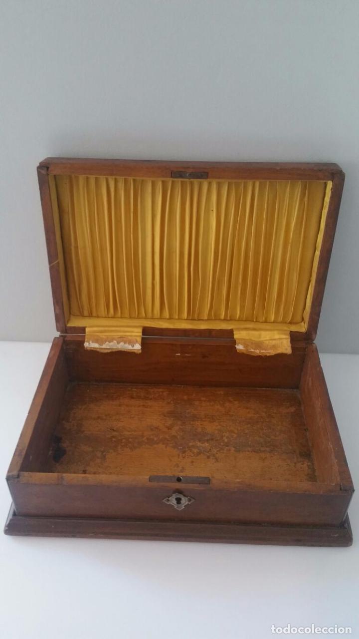 Antigua Caja Joyero De Madera Tapa Superior I Comprar Cajas  ~ Cajas De Madera Con Tapa De Cristal