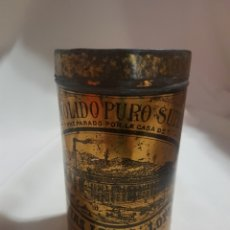 Cajas y cajitas metálicas: BOTE O LATA ANTIGUO DE CAFE MOLIDO PURO SUPERIOR MATIAS LOPEZ Y LOPEZ. Lote 92041845