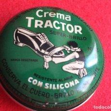 Cajas y cajitas metálicas: TRACTOR Nº3 LATA LLENA CAJA GRANDE CREMA NEGRA PARA EL CALZADO BETUN ZAPATO ZAPATOS. Lote 93022665