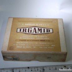 Cajas y cajitas metálicas: CAJA DE FARMACIA INGAMID LAB. PADRO // SIN DESPRECINTAR. Lote 93106080
