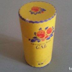Cajas y cajitas metálicas: BOTE DE CARTÓN GAL-JABÒN PARA LA BARBA-MADRID LONDON. PRIMERA MITAD XX.MIDE 9X5 CM DIÁM. Lote 93240695