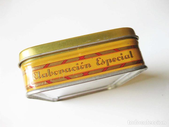 Cajas y cajitas metálicas: CAJA DE LATA DE ALMENDRAS DE BRIVIESCA - FABRICA DE DESIDERIO ALONSO - INDUSTRIAS METÁLICAS VIZCINAS - Foto 3 - 93619180
