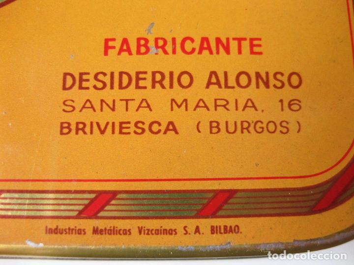 Cajas y cajitas metálicas: CAJA DE LATA DE ALMENDRAS DE BRIVIESCA - FABRICA DE DESIDERIO ALONSO - INDUSTRIAS METÁLICAS VIZCINAS - Foto 6 - 93619180