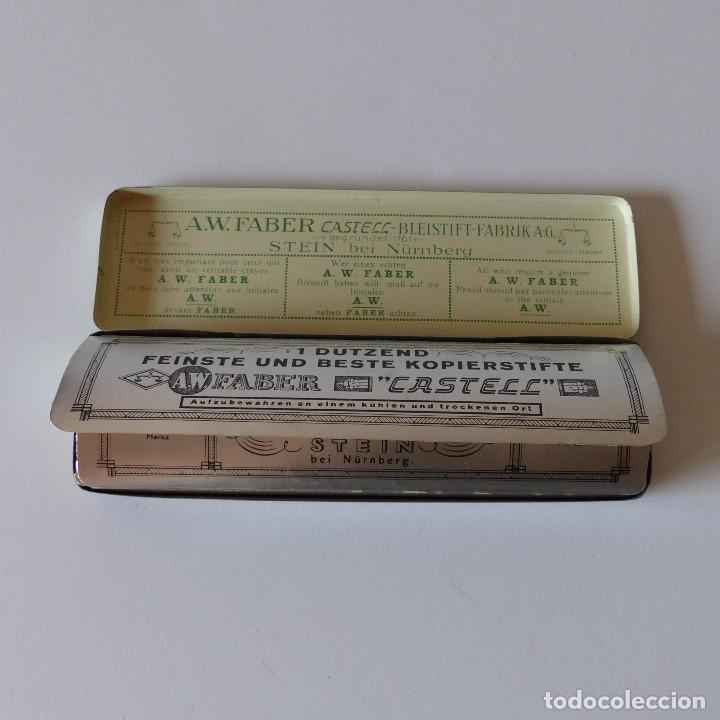 Cajas y cajitas metálicas: Cajita de chapa de Faber Castell. Contiene los lapizes sin usar en su interior. Alemania 1950 - Foto 4 - 94593939