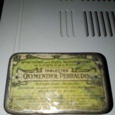 Cajas y cajitas metálicas: CAJA METALICA OXIMENTHOL. Lote 94597983