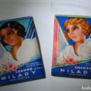 Cajas y cajitas metálicas: CHAMPÚ MILADY DE PUIG PARA RUBIAS Y MORENAS AÑOS 40 LLENOS. Lote 94765999