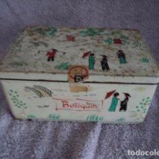 Cajas y cajitas metálicas: PRECIOSA CAJA ANTIGUA DE COLECCION COLA CAO MOTIVOS CHINOS BOTIQUIN 1972 NUTREXPA. Lote 94821595