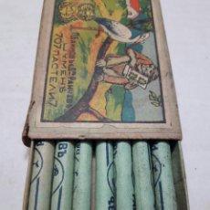 Cajas y cajitas metálicas: CAJA ANTIGUA DE PASTELES INFANTILES AÑOS 30. Lote 95097498