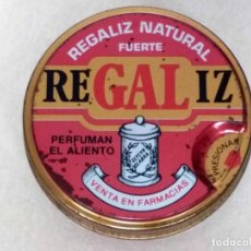 Cajas y cajitas metálicas: CAJA DE LATA DE REGALIZ NATURAL FUERTE (TAPA ROJA). Lote 95301783